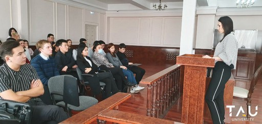 A meeting of students with the judge of the Esil district court Davletova Madina Muratovna