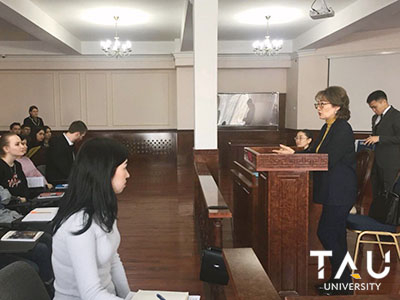 Guest lecturer -  the deputy head of the Department of Justice of the city Nur-Sultan
