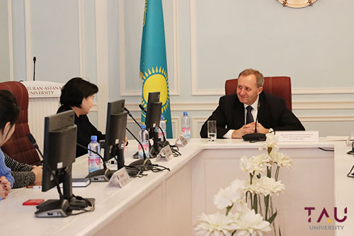A meeting with H.E. the Ambassador Extraordinary and Plenipotentiary of the Czech Republic in Kazakhstan, Mr. Rudolf Hickl